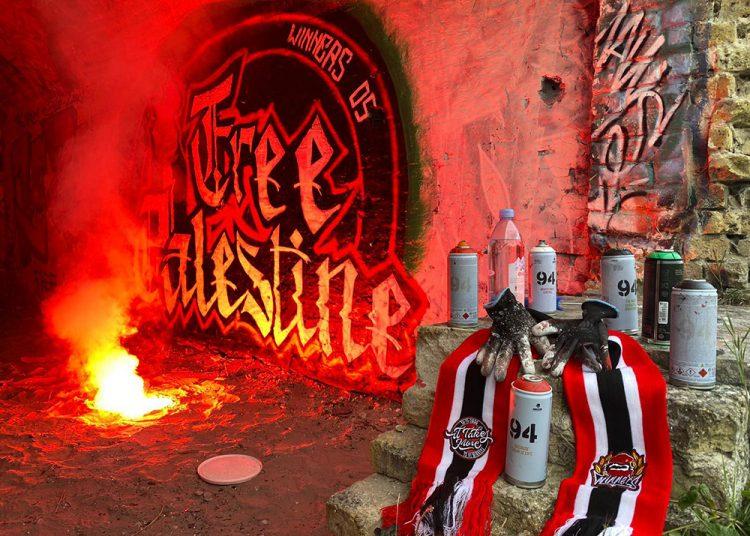 Graffiti des Ultras Winners 05 en soutien au peuple palestinien
